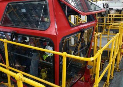 Transnet stradel carrier cab rebuild